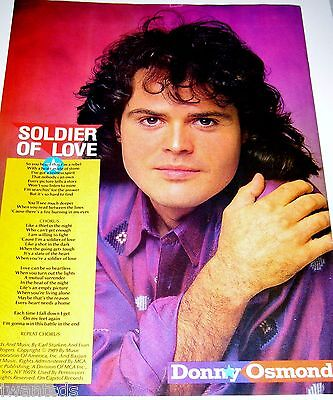 Donny Osmond Soldier of Love Puppy Love Lyrics Marie Pin Up Clippings 80's