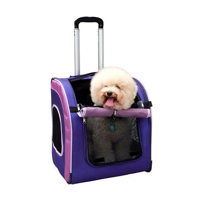 Ibiyaya Liso Parallel Transport Pet Cat or Small Dog Carrier - Purple