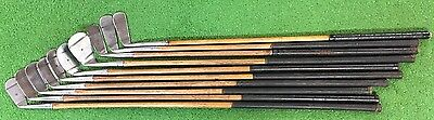 10 Antique hickory wood shaft Spalding Kro Flite Irons