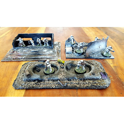 40k, 30k, Wargaming Terrain - Three-piece package!