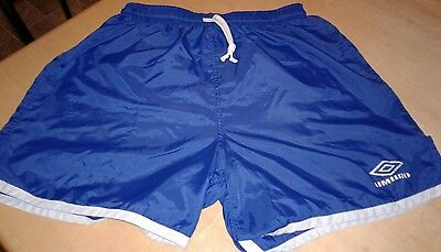 Vintage Adult Umbro Blue With White Border Soccer Shorts Sz Medium Made in USA
