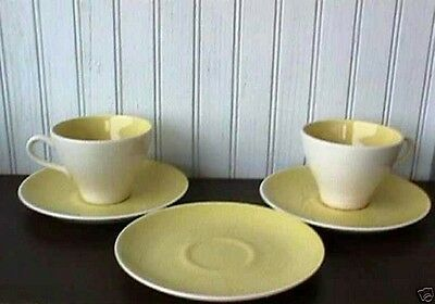**white Daisy (2) Cups & (3) Saucers Cock O' Morn Harker-Us5-R