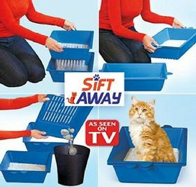 Sift Away As Seen on TV Self Sifting Cat Litter Trays Box 3 Part Don't Scoop