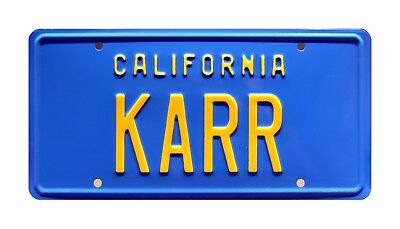Knight Rider | '82 Trans Am | KARR | Metal Stamped Replica Prop License Plate