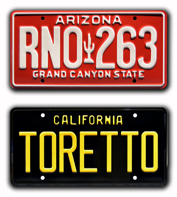 Fast and Furious   TORETTO + Paul Walker's Eclipse   STAMPED Prop License Plates