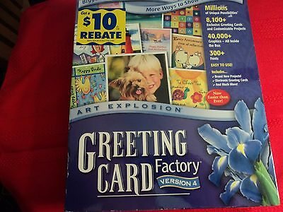 "Art Explosion Greeting Card Factory Version 4 ""new"""