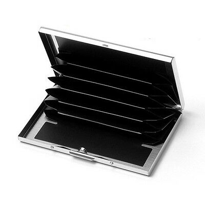 Business Stainless Steel Name Credit ID Card Holder Metal Case Box Wallet Pocket