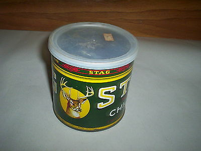 Stag Chewing Tobacco Tin Can 1LB Imperial Tobacco Canada DEER LOGO (EMPTY)