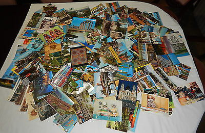 Vintage Bulk Lot Of Over 250 Postcards And Picture Foldouts - Used And Unused