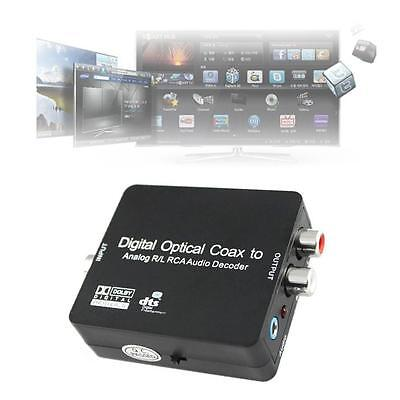 DTS/Dolby Digital Optical Coax Toslink to Analog RCA Audio Decoder Converter DB