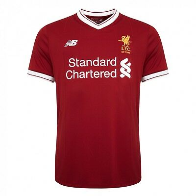 New Balance Liverpool FC Home Football Top (2017/18 Season) DARK RED SIZE LARGE
