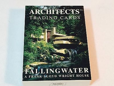 FRANK LLOYD WRIGHT Architects Trading Cards FALLINGWATER 1995 ACME Falling Water