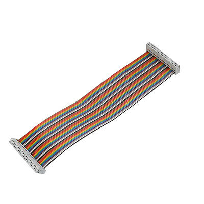 40Pin Way Female To Female Rainbow Ribbon Cable Cord 22cm For Raspberry Pi