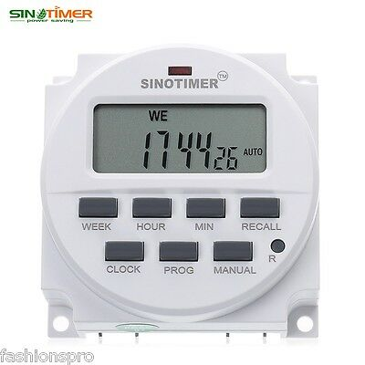 SINOTIMER 12V Digital Multipurpose Programmable Control Power Timer Switch