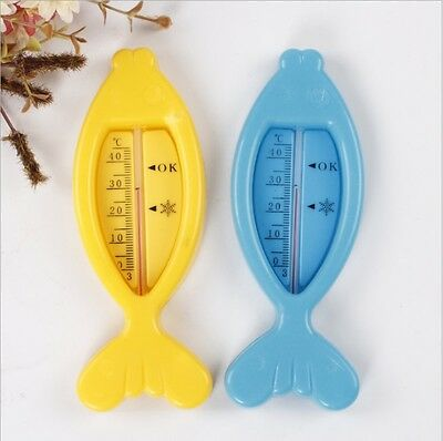 Baby Cute Plastic Float Floating Bath Tub Water Sensor Thermometer Fish Desigh