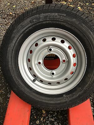 1 X New Trailer Wheels/Tyres 165R13C 5.5 PCD ifor Williams/ Brian James