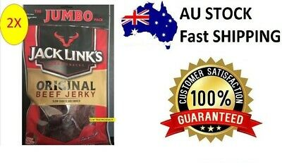 2x 255g Jack Link's Original Beef Jerky 510g Made in New Zealand -The Jumbo Pack
