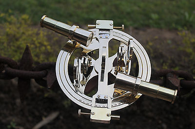 """Nautical Round Sextant 6"""" Maritime Ship Navigation Working Sextant Gift Item"""