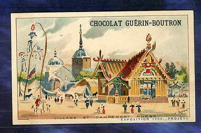 Chromo Guerin-Boutron expo Universelle 1900 village Russe Russia Exhibition