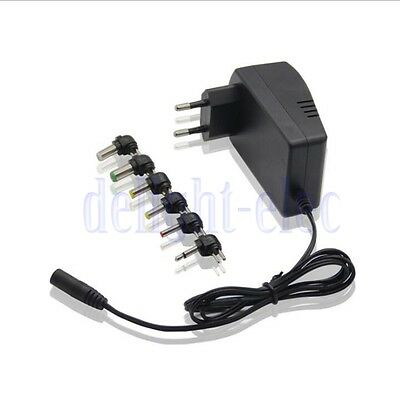 2xUniversal AC DC Adapter Converter 6 Plugs 3 4.5 6 7.5 9 12V Power Charger 3.0A
