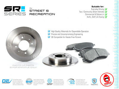Rear SR Brake Pad + Disc Rotors Pack for BMW 316i E30 1987-93
