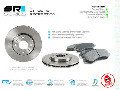 Front SR Brake Pad + Disc Rotors Pack for PEUGEOT PARTNER 2008-On ALL