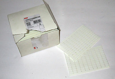 Box of 39 New ABB RC610 Vierge Markers for Terminal Blocks Blank White 100/Sheet