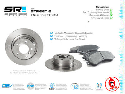 Rear SR Brake Pad + Disc Rotors Pack for FORD MONDEO ALL MODELS 2007-ON
