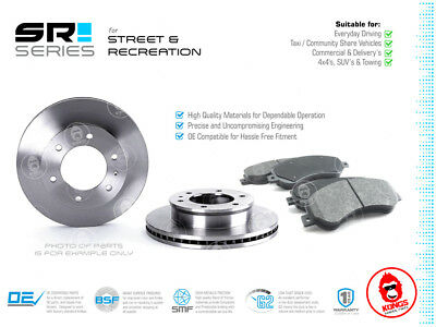 Front SR Brake Pad + Disc Rotors Pack for TOYOTA HILUX KUN26 297MM ROTOR