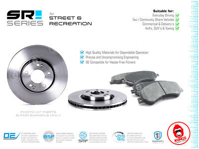 Front SR Brake Pad + Disc Rotors Pack for TOYOTA HIACE RZH113 08/89-08/96