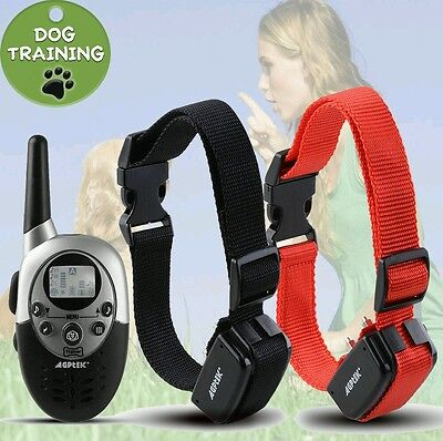 1000 Yard Waterproof  Dog Shock Training Collar with Remote Rechargeable 4level