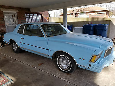 1978 Chevrolet Monte Carlo Base 1978 Chevy Monte Carl in fair with 305 engine and driving condition