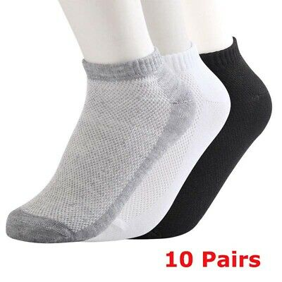 10 Pairs New Fashion Unisex Sports Bamboo Fiber Casual Low Cut Short Ankle Socks
