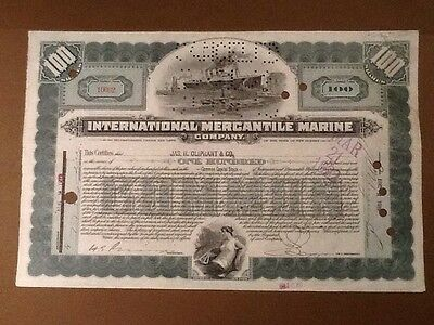 International Mercantile Marine Company 191er - Titanic (100 Shares) 2 Vignetten