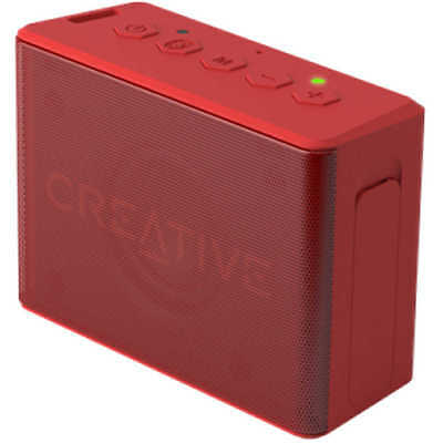 Creative MUVO 2C BLUETOOTH WIRELESS SPEAKER Wide Stereo, Water-Resistant RED