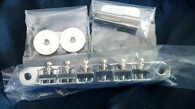 Gibson ABR Style Bridge With Tuneomatic Conversion Posts Set New Chrome US Made