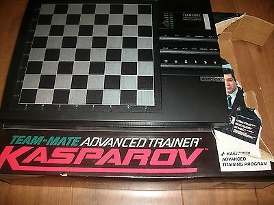Kasparov Team Mate Advanced Trainer Saitek Electronic Chess Computer