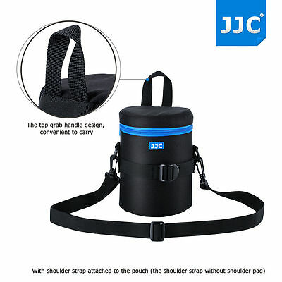 JJC 100x175mm Deluxe Lens Pouch Case Bag with 120cm Shoulder Strap fr CANON LENS