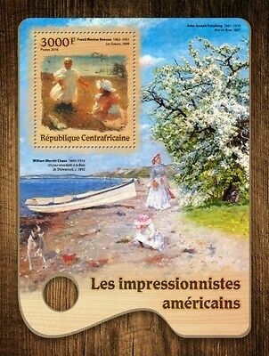 Z08 CA16701b CENTRAL AFRICA 2016 American Impressionists MNH