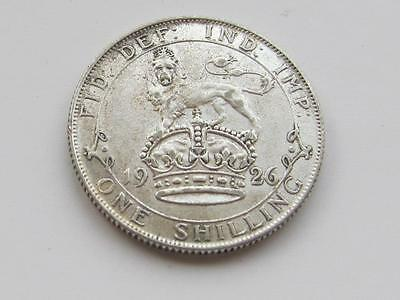 George V silver Shilling 1926 - Good collectable coin
