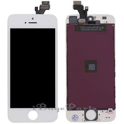 For iPhone 5 5G LCD Touch Display Screen Digitizer Replacement White Assembly