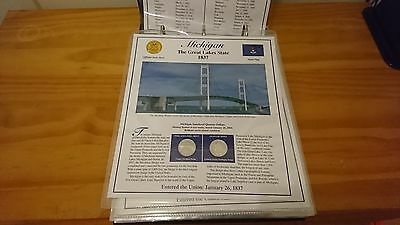 Rare American Dollar Statehood Quarters Coin Stamps Collection Volume Ii Of Ii