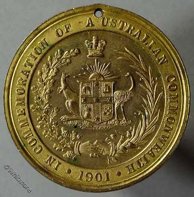 1901 Australia Federation Medal C21 Not recorded in gilt bronze Proof like 31mm