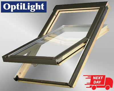 OptiLight Roof Window Centre Pivot Skylight Loft Rooflight + Flashing Slate,Tile