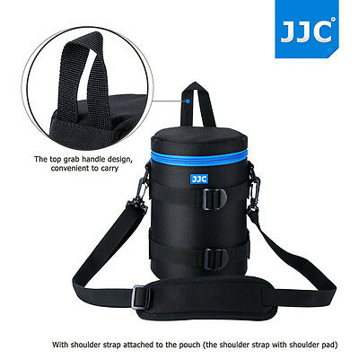 JJC118x203mm Deluxe Lens Pouch Case Bag with Shoulder Strap for Canon Nikon Lens