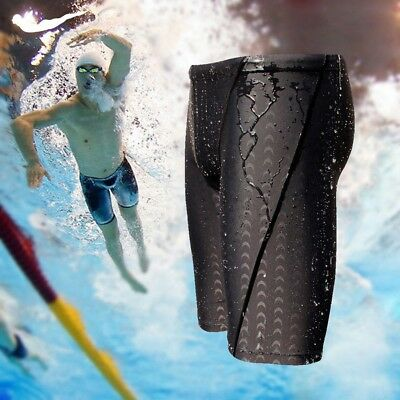 Mens Sharkskin Swimming Board Shorts Swim Shorts Trunk Swimwear Beach Summer UK