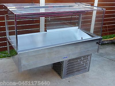 Cake Fridge Cold Food Sandwiches Takeaway Stainless Steel Large And Cold As New