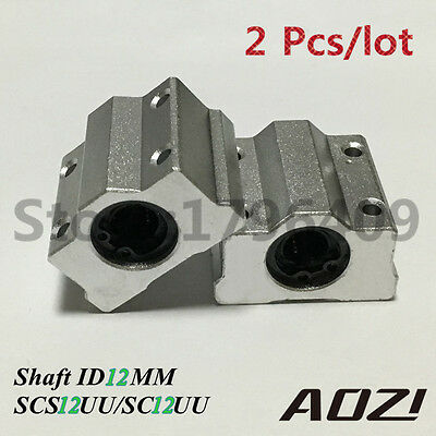 2pcs 12mm SCS10LUU SC12UU Metal Linear Ball Bearing FOR XYZ Table CNC Route