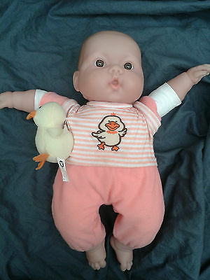"Berenguer Doll Lots to Cuddle Animal Friends 15"" with duck"