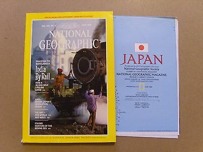 National Geographic Magazine - June 1984 - History Of Japan Map Included